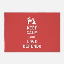 Keep Calm and Love Defendo 5'x7'Area Rug