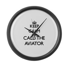 Funny Naval aviation Large Wall Clock