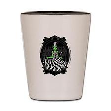 Bride Of Frankenstein Green Shot Glass