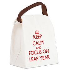 Unique Leap year Canvas Lunch Bag