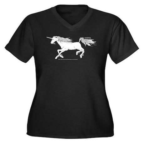 Speed! Unicorn Women's Plus Size V-Neck Dark T-Shi