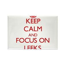 Keep Calm and focus on Leeks Magnets