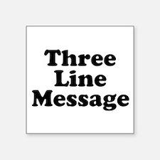 Big Three Line Message Sticker