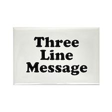 Big Three Line Message Magnets