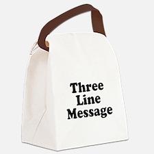 Big Three Line Message Canvas Lunch Bag