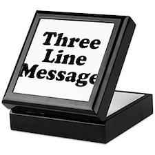 Big Three Line Message Keepsake Box
