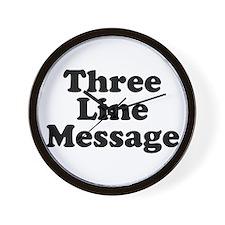 Big Three Line Message Wall Clock