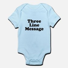 Big Three Line Message Body Suit