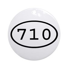 710 Oval Ornament (Round)
