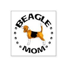 "Beagle Mom Square Sticker 3"" x 3"""