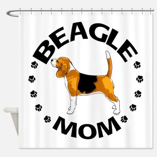 Beagle Mom Shower Curtain