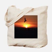 Sunset Seagull Tote Bag