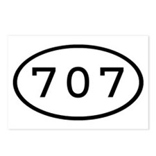 707 Oval Postcards (Package of 8)