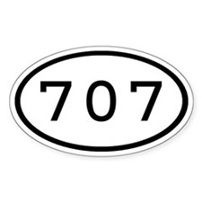 707 Oval Oval Decal
