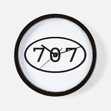 707 Oval Wall Clock
