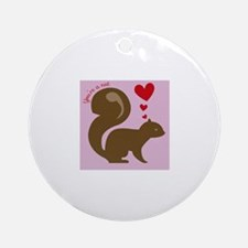 Youre A Nut Ornament (Round)