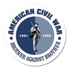 American Civil War Round Car Magnet