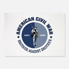 American Civil War 5'x7'Area Rug