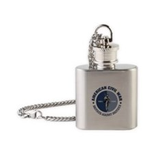 American Civil War Flask Necklace