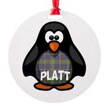 Platt Tartan Penguin Ornament