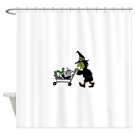 Witch Shopping For Supplies Shower Curtain By Witcheswardrobe