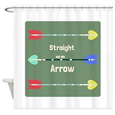 Straight As An Arrow Shower Curtain