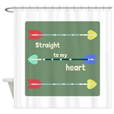 Straight To My Heart Shower Curtain