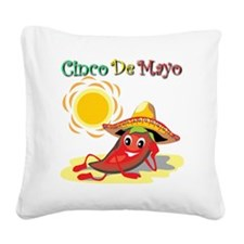 Cinco De Mayo  Square Canvas Pillow