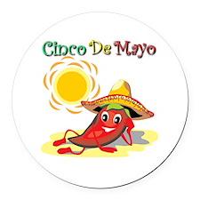 Cinco De Mayo  Round Car Magnet