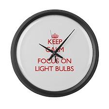 Cute Light bulbs Large Wall Clock