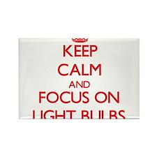 Keep Calm and focus on Light Bulbs Magnets