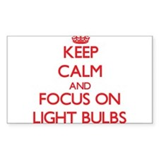 Keep Calm and focus on Light Bulbs Decal