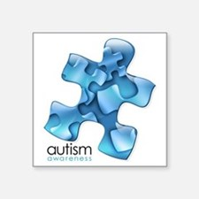 "Funny Autism Square Sticker 3"" x 3"""