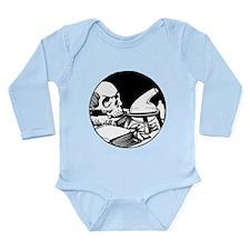 Alchemical Skull Icon Long Sleeve Infant Bodysuit