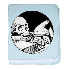 Alchemical Skull Icon baby blanket