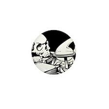 Alchemical Skull Icon Mini Button