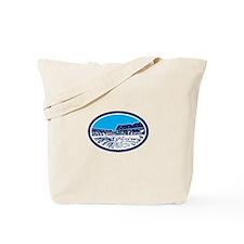Coliseum Colosseum Rome Oval Woodcut Tote Bag