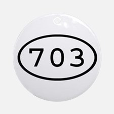 703 Oval Ornament (Round)