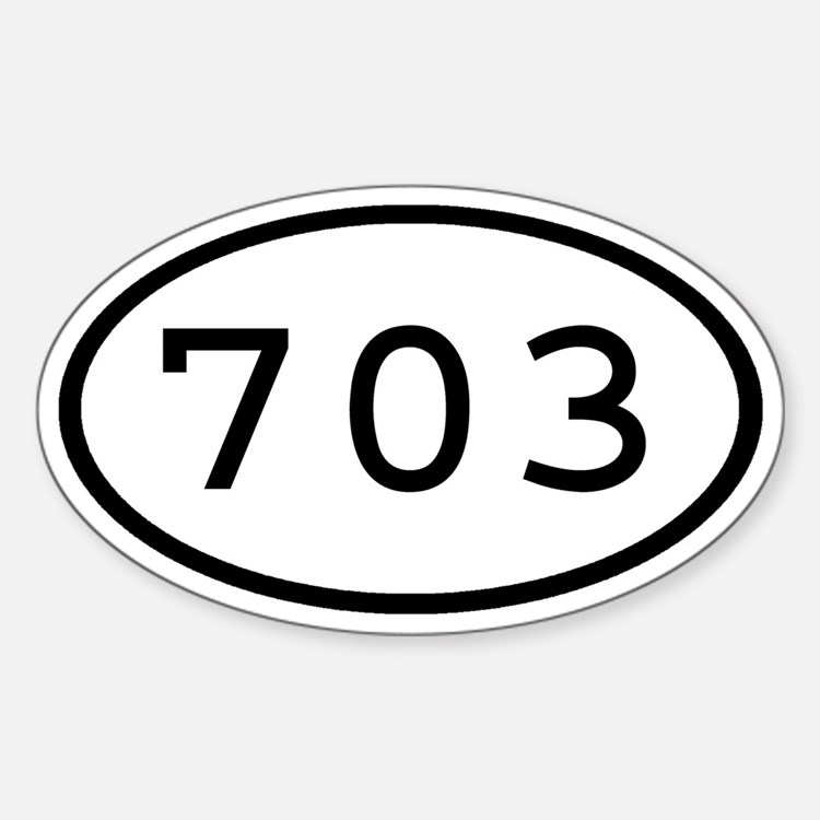 703 Oval Oval Decal