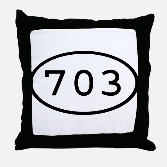 703 Oval Throw Pillow
