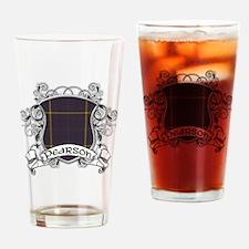 Pearson Tartan Shield Drinking Glass