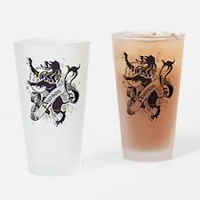 Pearson Tartan Lion Drinking Glass