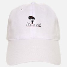 Run Like a girl! Baseball Baseball Cap