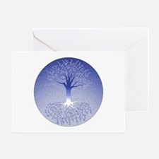 Winter Blue Blank Greeting Cards