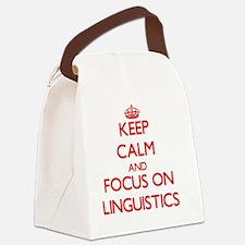 Cute Linguistics Canvas Lunch Bag