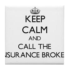 Cute Group life insurance broker Tile Coaster