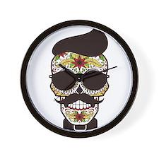 Sugar Skull 3 Wall Clock