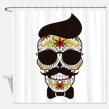 Sugar Skull 3 Shower Curtain