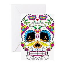 Sugar Skull 5 Greeting Cards