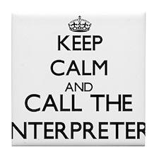 Cute Interpreter Tile Coaster